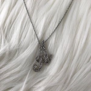 """Monet """"A"""" Necklace"""